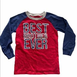 Like New Carter's Best Brother Ever T-shirt sz 7